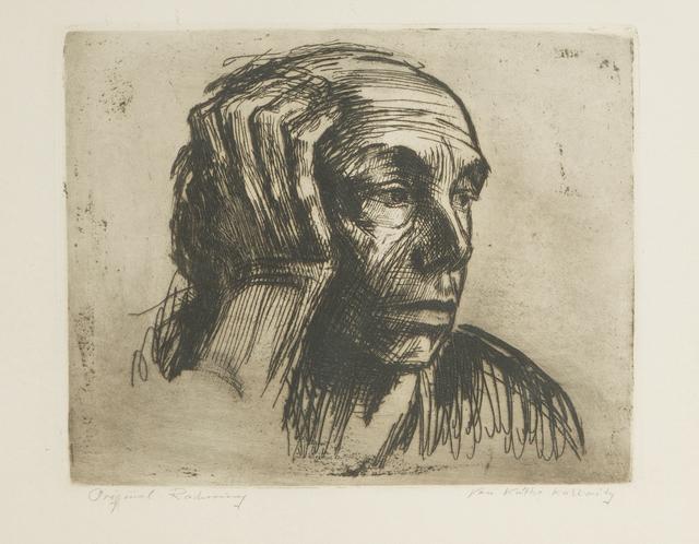 Käthe Kollwitz, 'Selbstbildnis', 1921, Print, Etching on paper under glass, John Moran Auctioneers