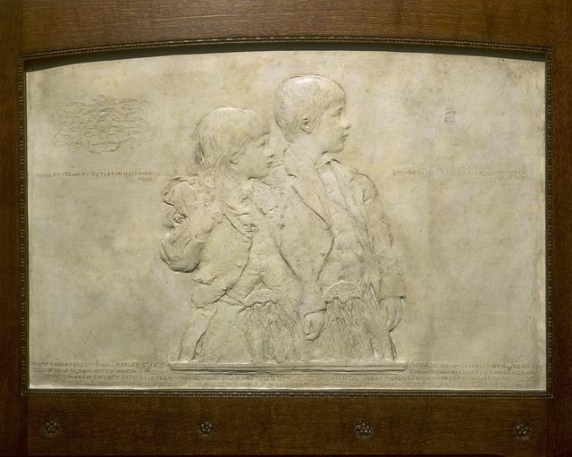 Augustus Saint-Gaudens, 'Charles Stewart Butler and Lawrence Smith Butler', 1880-1881, Sculpture, Plaster, National Gallery of Art, Washington, D.C.