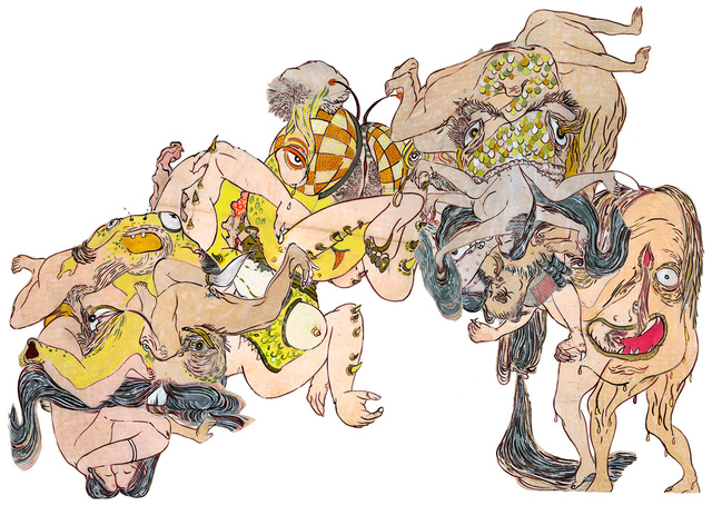 , 'Of Shunga & Monsters (Composite 1)  魔兽春宫图(合一),' 2015, ART LABOR Gallery