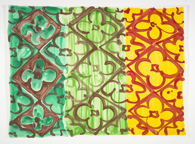 Judy Ledgerwood, 'Emerald, Green + Marigold', 2020, Print, Monotype, Manneken Press
