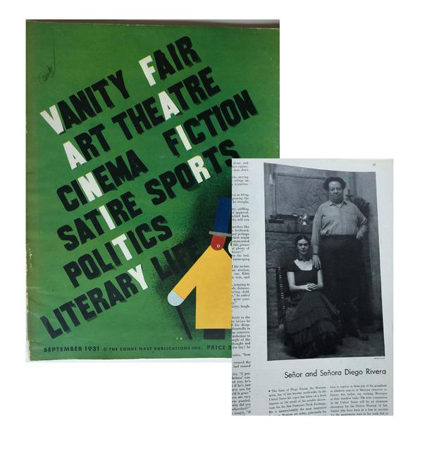 Frida Kahlo, '(4) Magazines- 1931 Vanity Fair, 1936 Vogue, 1937 Vogue, 2012 Mexican Vogue', 1931-1938, VINCE fine arts/ephemera