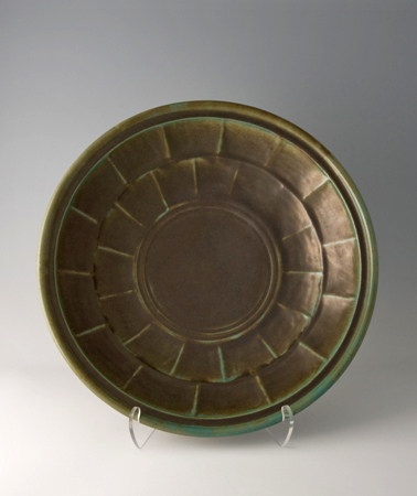, 'Large plate, celadon glaze,' , Pucker Gallery