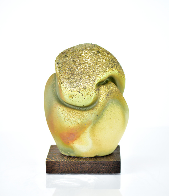 Perry Haas, 'Droplet 1916', 2019, Sculpture, Shino glaze with iron inclusions, wood fired porcelain, Duane Reed Gallery