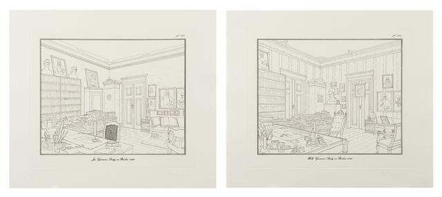 Rodney Graham, 'Jacob Grimm's Study in Berlin/Wilhelm Grimm's Study in Berlin 1960', 1992, Other, Etching, Contemporary Art Gallery