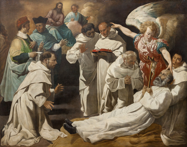 Juan Luis Zambrano Muerte De San Pedro Nolasco The Death Of Saint Peter Nolasco Ca 1634 Artsy