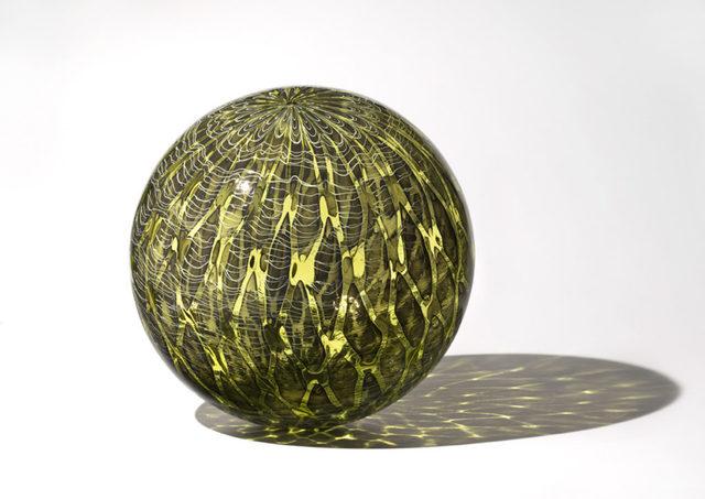 Nancy Callan, 'Olive Shimmer Orb', 2018, Traver Gallery