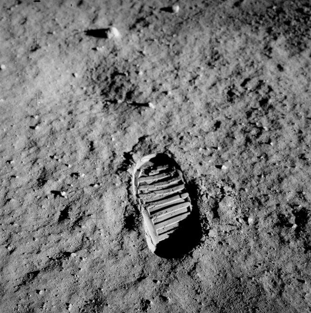 , 'NASA (Crew of Apollo 11 - Buzz Aldrin) Bootprint,' 1969, Ingleby Gallery