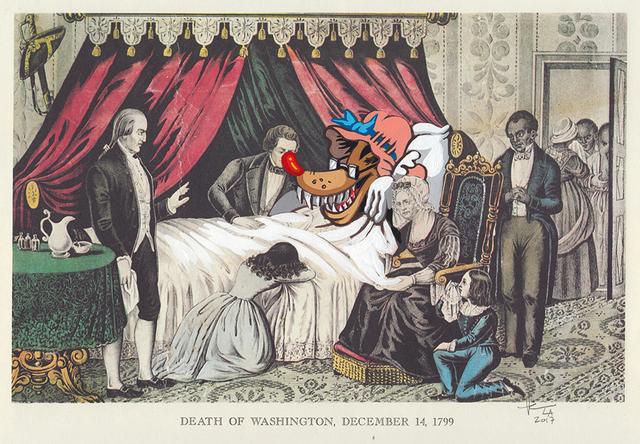, 'Death of Washington,' 2017, Jonathan LeVine Projects