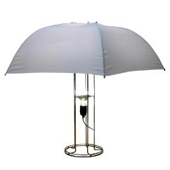 Gijs Bakker, ''Umbrella' Lamp Midcentury Droog Design, 1970s', ca. 1970s, Design/Decorative Art, Chromed steel, rayon, Zitzo Modern design