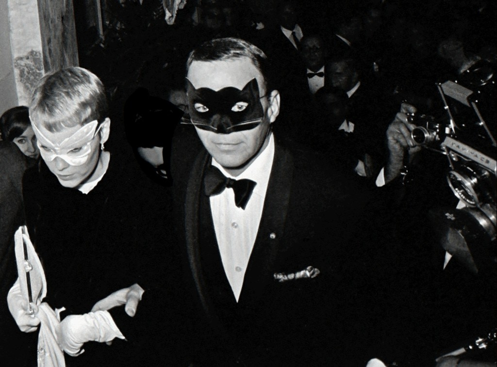 Image result for Frank Sinatra and Mia Farrow, Truman Capote's Black and White Ball, New York