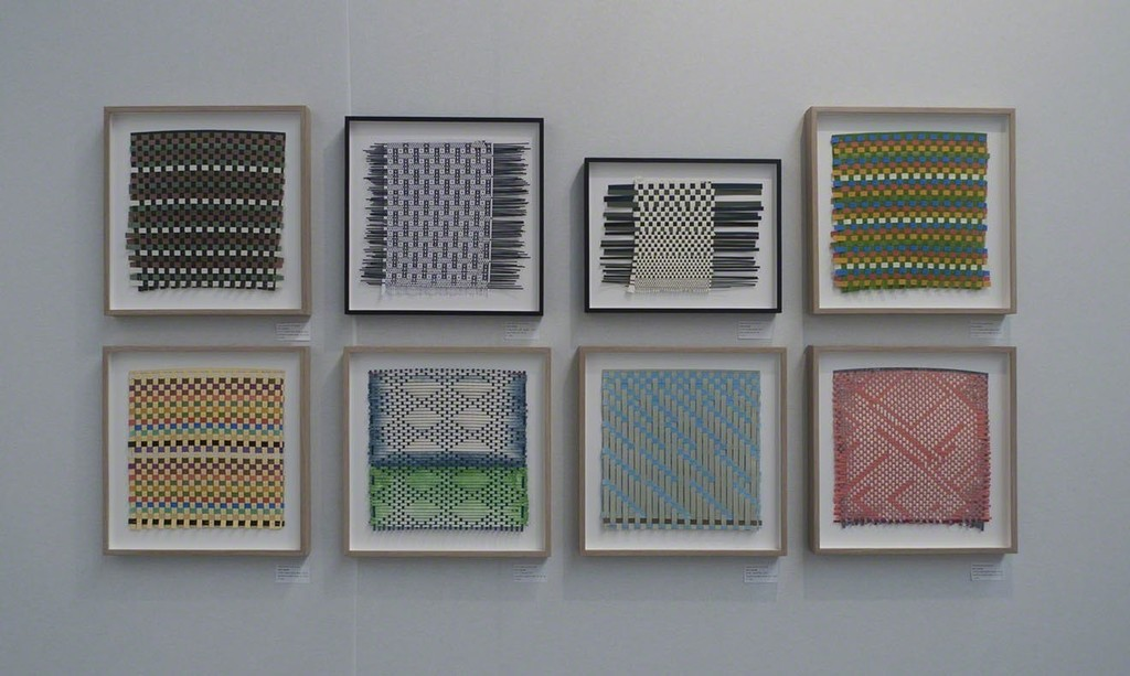 Henri Jacobs. Journal Drawings 917, 904, 905, 916, 920, 911, 921, 919 (left - right, top - bottom), 2017, 2018, plaited paper.