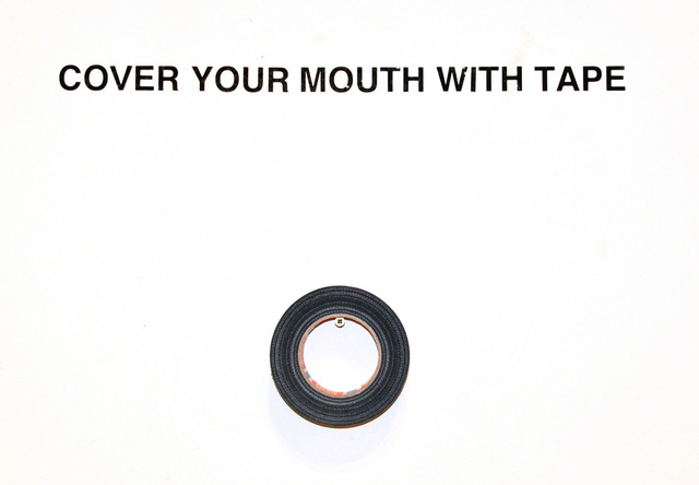 , 'COVER YOUR MOUTH WITH TAPE,' 2018, Hans & Fritz Contemporary