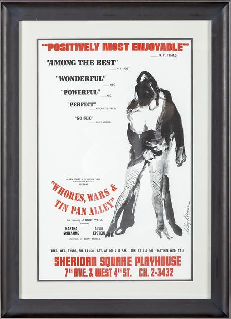 LeRoy Neiman, 'Whores, Wars & Tin Pan Alley Poster Alvin Epstein', 1969, Modern Artifact