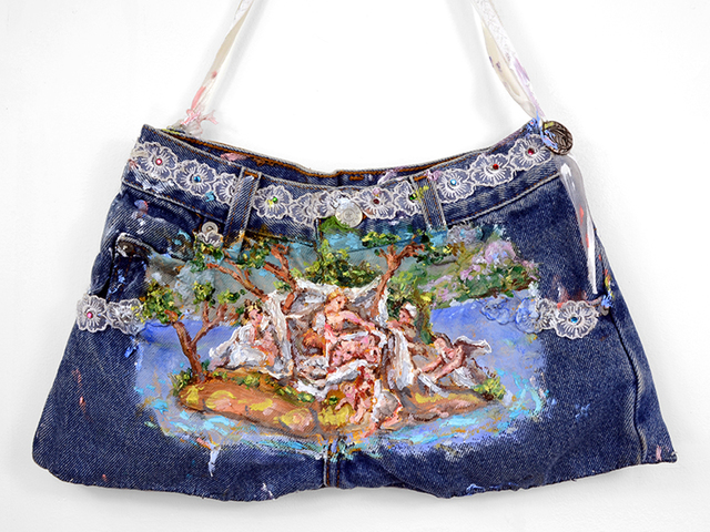 , 'Jean Purse Forcefield for Birthing (after Diana Mantuana),' 2018, Fisher Parrish Gallery