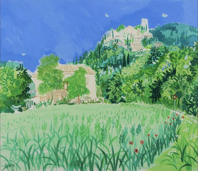 , 'Provencal landscape with hilltop village,' 1987, Robert Eagle Fine Art
