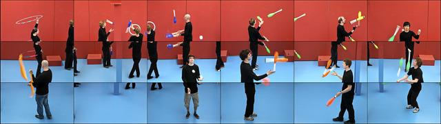 David Hockney, 'The jugglers', 2012, National Gallery of Victoria