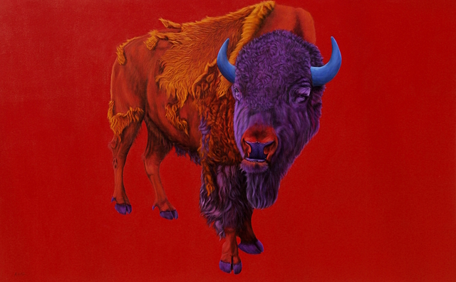 , 'Buffalo on a Red Background,' 2005, Galerie Dumonteil