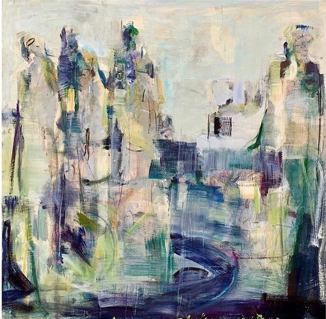 Catie Radney, 'Walk With these People ', 2020, Painting, Mixed Media, Shain Gallery