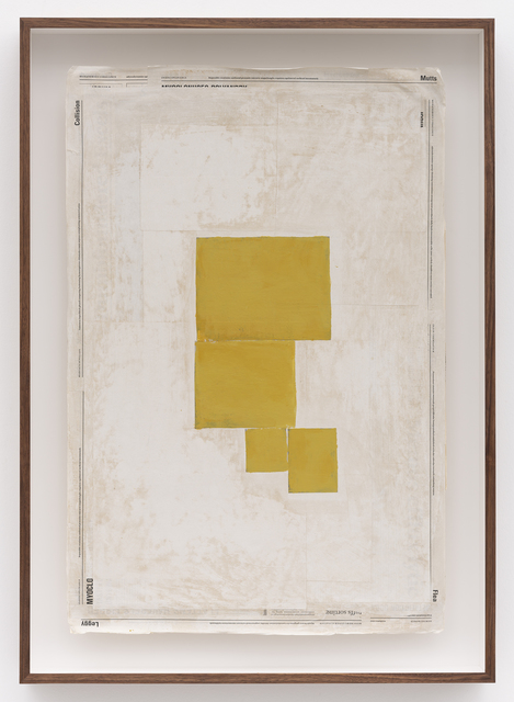 , 'Composition with Yellow,' 2019, Zeno X Gallery