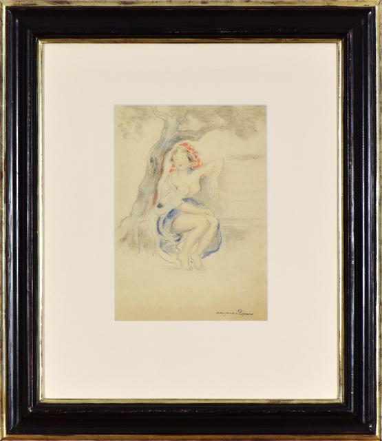 George Manzana-Pissarro, 'Woman Sitting under a Tree', Executed circa 1920, Stern Pissarro
