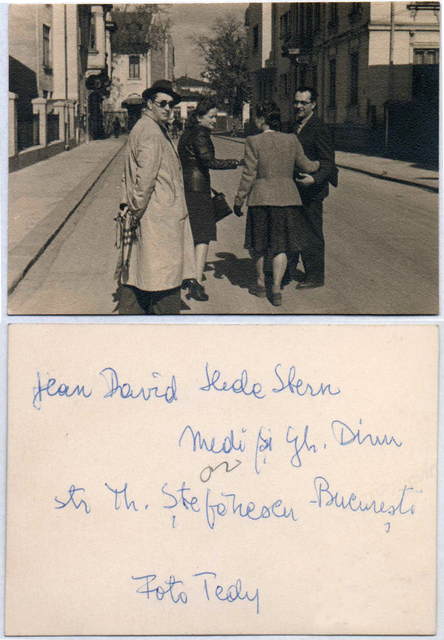, 'Jean David, Hedda Stern, Medi Wechsler and Gh. Dinu on Theodor Stefanescu Street, Bucharest,' ca. 1940, Nasui Collection & Gallery