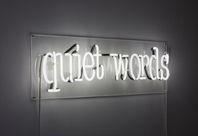 , 'quiet words,' 2015, MIER GALLERY