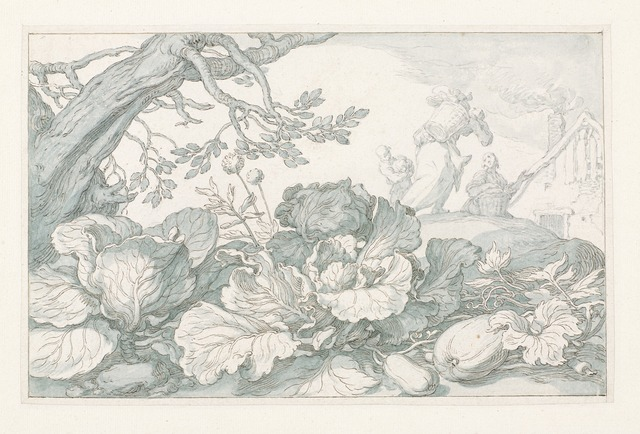 , 'Cabbages and Other Plants at the Base of a Tree,' 1610-1630, Rijksmuseum
