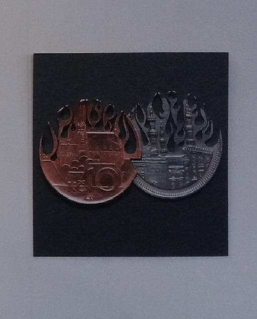 Best of Graduates 2019, 'Kevin Timmerman - Muntcollage Vlammen', 2019, Galerie Ron Mandos