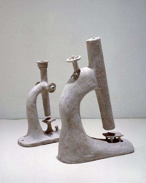 Alexander Brodsky, 'Grey Matter (Microscope)', 1999, Sculpture, Unfired clay, Ronald Feldman Gallery