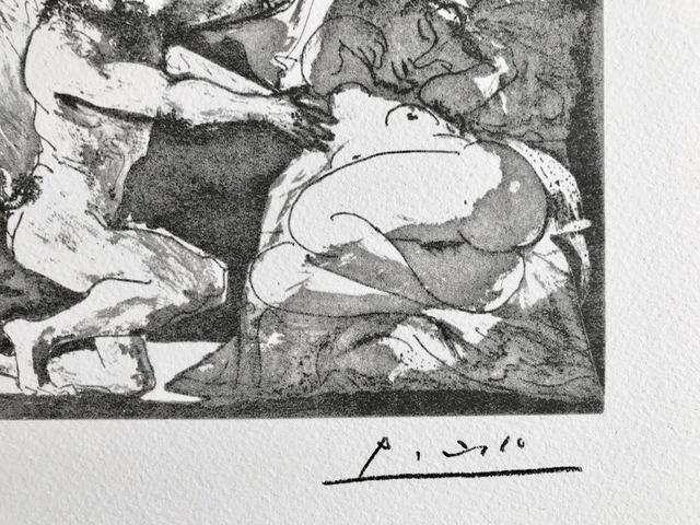 Pablo Picasso, 'Faune dévoilant une dormeuse, Jupiter et Antiope d'après Rembrandt (Suite Vollard Planche XXVII)', 1973, ByNewArt