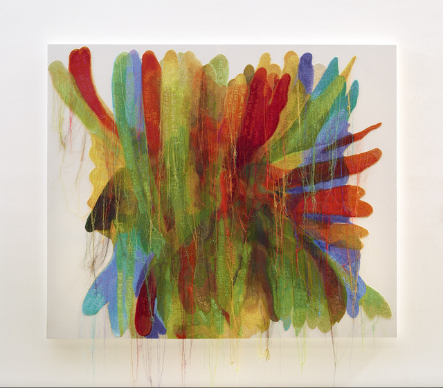 , 'Abstract Weave / Morris Louis Untitled A,' 2014, Tina Kim Gallery