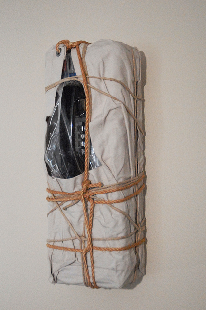Christo, 'Wrapped New York Payphone', 1988, Photography, Steel payphone wrapped in canvas, polyethylene, twine and rope, Kenneth A. Friedman & Co.