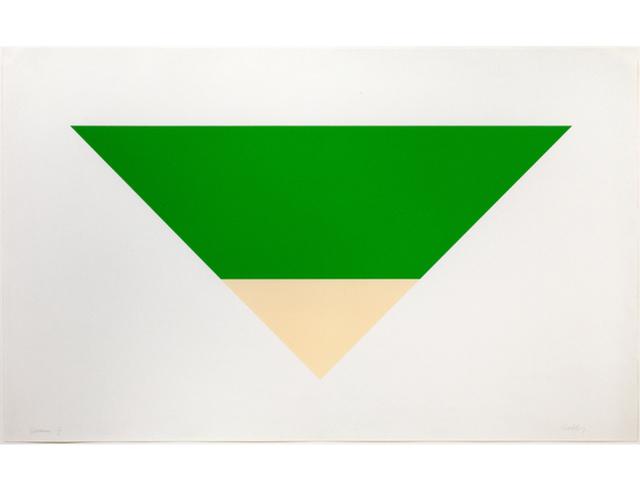 Ellsworth Kelly, 'Green/White', 1970-72, Graeme Jackson