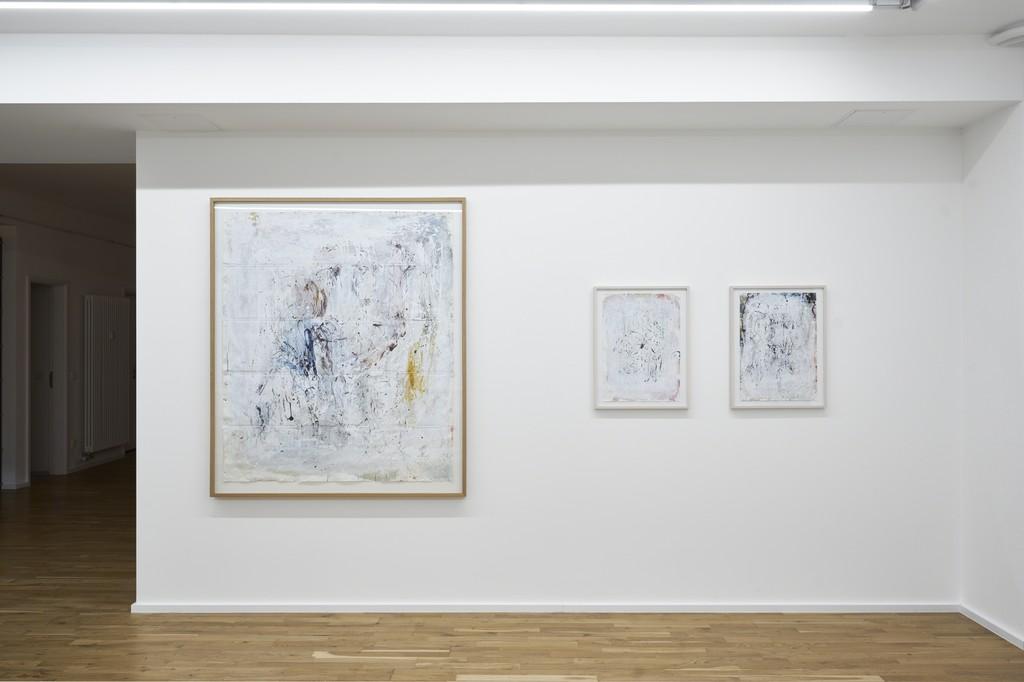 Installation view, Hedwig Eberle, Neue Arbeiten auf Papier 2017