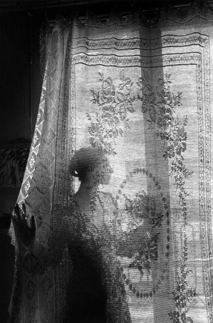 , 'la femme au rideau, Paris,' 1971, °CLAIR Galerie