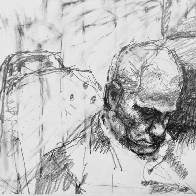 William Boyd Woods, 'Commuter Sleeping on a Train', 2018, Robert Kananaj Gallery
