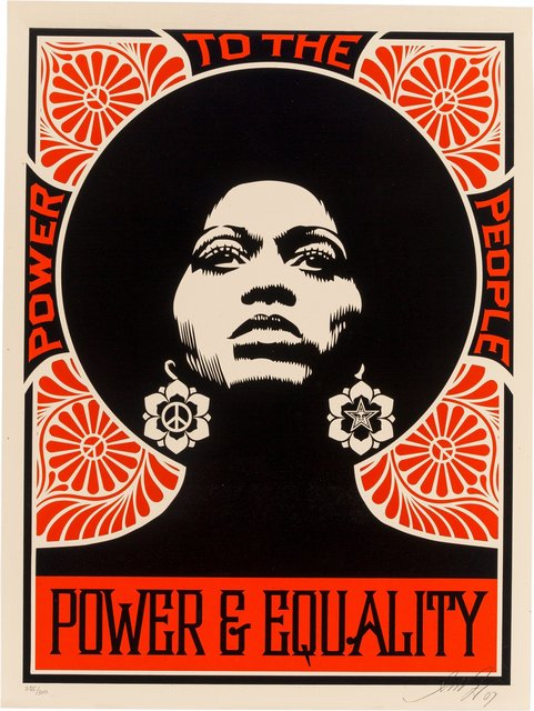 Shepard Fairey, 'Afrocentric (Red)', 2007, Heritage Auctions