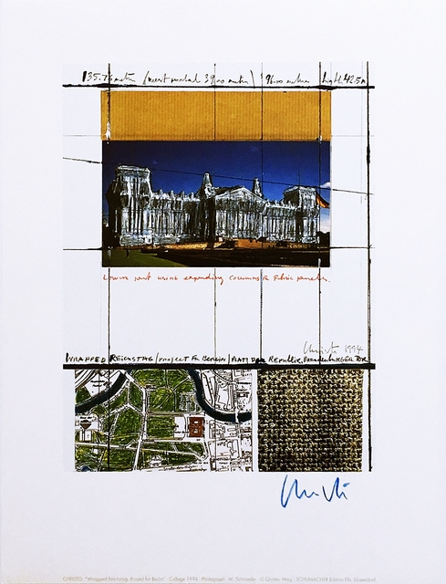 Christo, 'Wrapped Reichstag (Project for Berlin)', 1994, Alpha 137 Gallery