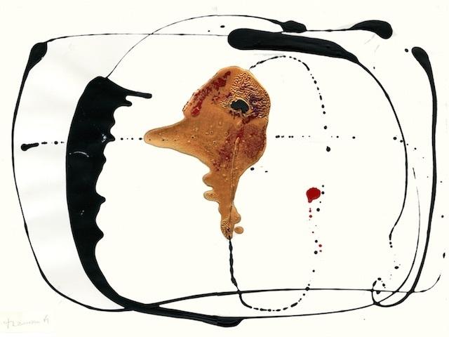 , 'Calligramme XXIII ('fossil'),' ca. 1961, l'étrangère