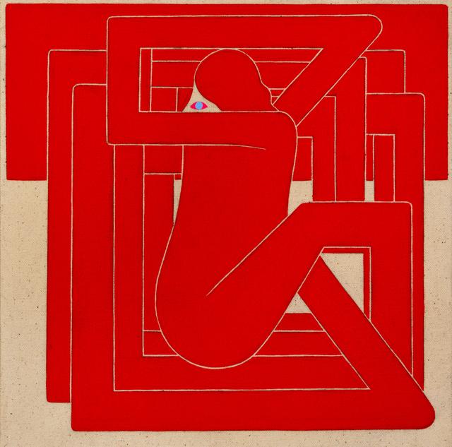 , 'Untitled, (Red Figure, Blue Eye),' 2018, V1 Gallery