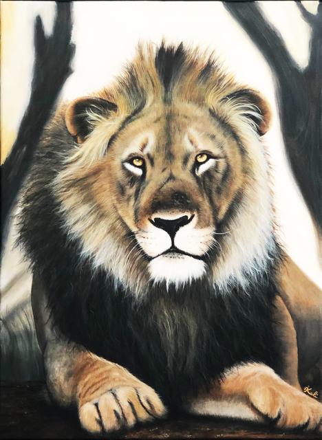 Kalipeinture, 'Lion d'Afrique', 2019, Galerie Libre Est L'Art