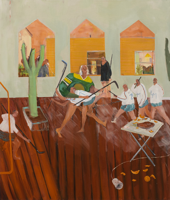 Grace Metzler, 'Home Game', 2021, Painting, Oil on Canvas, Yossi Milo Gallery