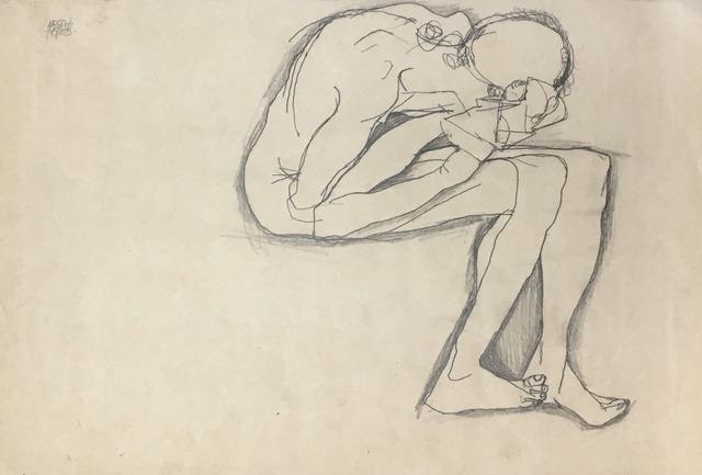 Egon Schiele, 'Crouching Nude', 1913, Galerie St. Etienne
