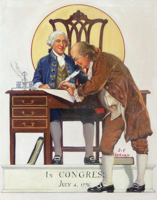 "Joseph Francis Kernan, '""In Congress, July 4, 1776""', 1932, The Illustrated Gallery"