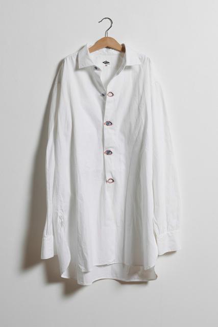 Elodie Antoine, 'Chemisier aux yeux boutonnés', 2014, Fashion Design and Wearable Art, Cotton blouse, print on textile, Aeroplastics