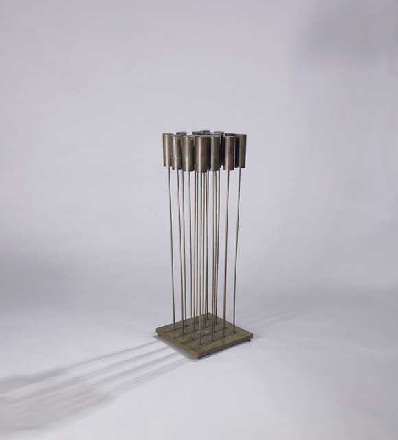 Harry Bertoia, 'Sonambient with Heavy Cattails', ca. 1970, Sculpture, Beryllium copper rods and cylinders silvered to brass base, Vallarino Fine Art