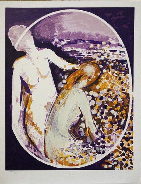 , 'Two People in Violet,' , The Loft Fine Art
