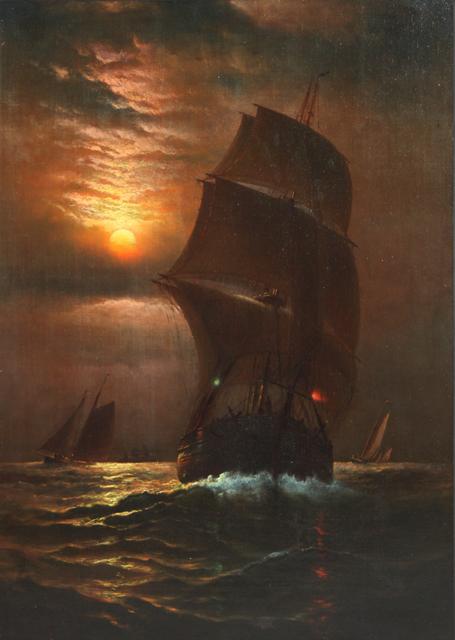 Charles Henry Gifford, 'Sailing Ship at Dusk', 1885, EastCoastArt