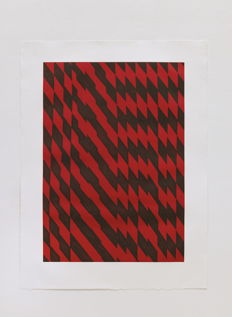 , 'Blackfriars Red,' 2012, STPI