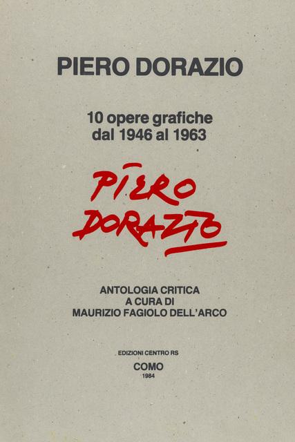 Piero Dorazio, 'Piero Dorazio', 1984, Martini Studio d'Arte